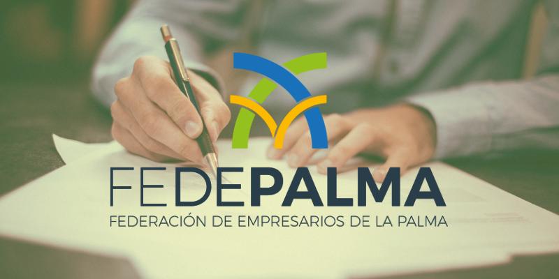 Fedepalma y el Ayuntamiento Garafía firman acuerdo para la dinamización del sector empresarial