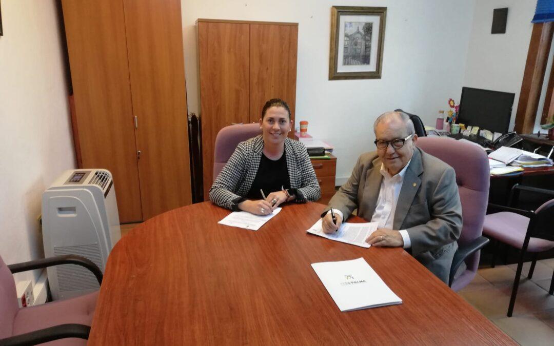 Firma del convenio entre La Federación de Empresarios de La Palma (FEDEPALMA) y el Ayuntamiento de Villa de Mazo