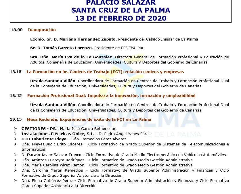 III Jornadas de laFormación en Centros de Trabajo en lasPYMESPalmeras
