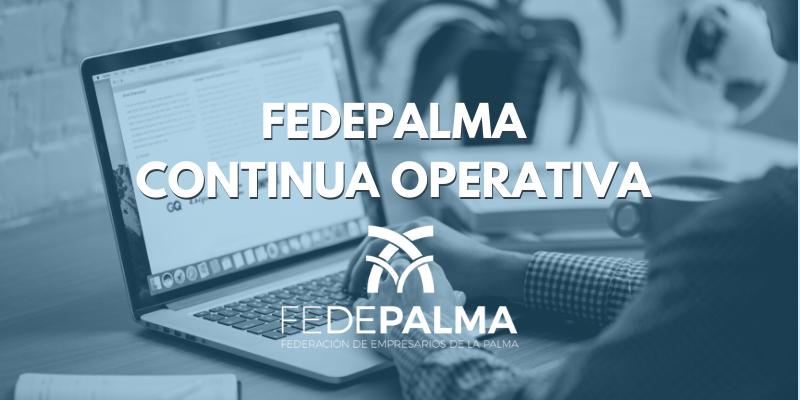 La Federación de Empresarios de La Palma, continua operativa.