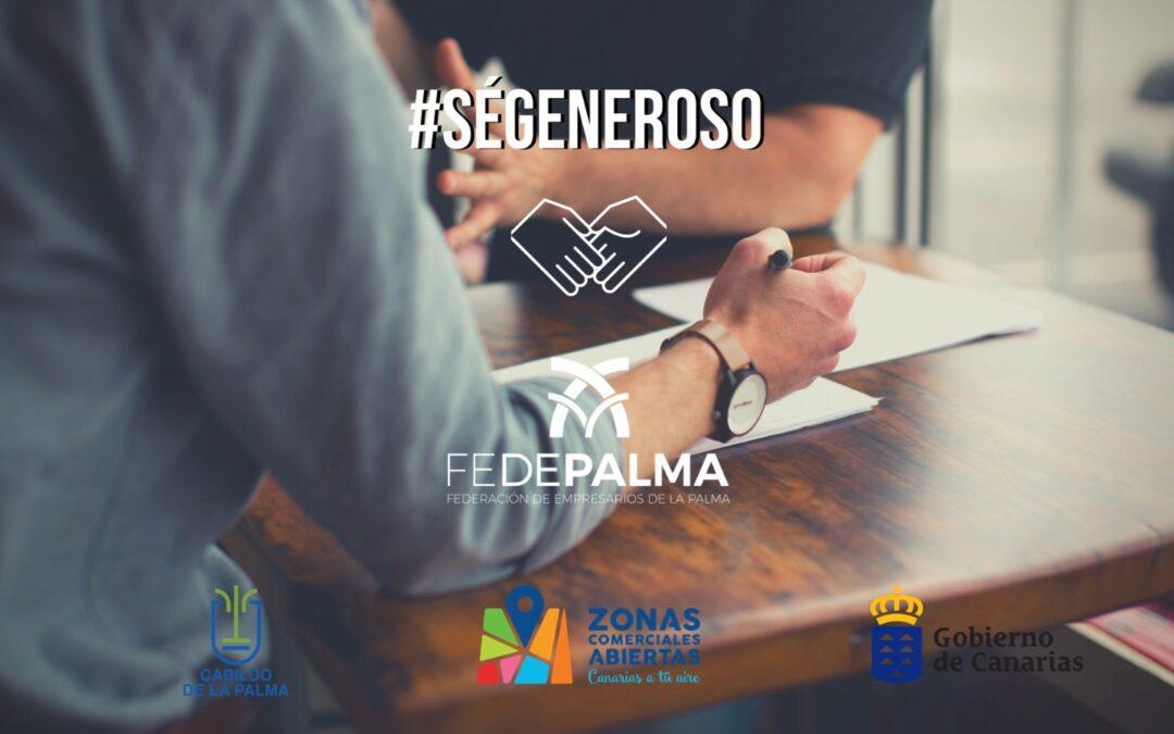 """FEDEPALMA pone en marcha una campaña de sensibilización """" Sé Generoso"""""""
