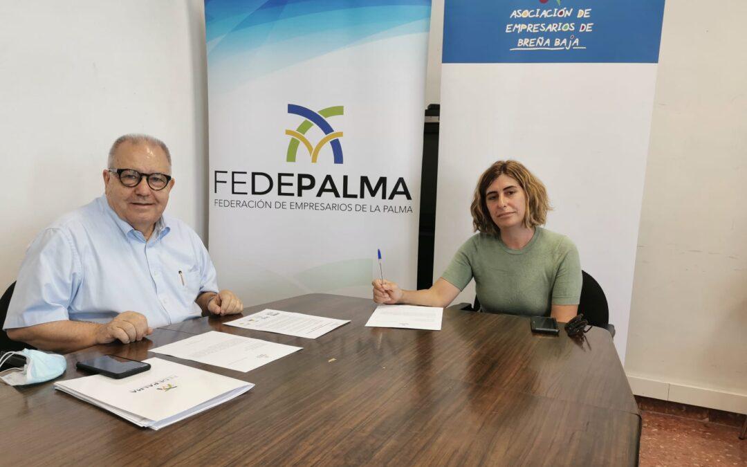La Asociación de Empresarios de Breña Baja se adhiere a FEDEPALMA.